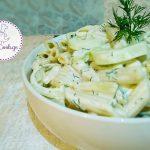 კიტრისა და პასტის (მაკარონის) სალათა