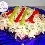 სალათა საქონლის ხორცითა და კომბოსტოთი
