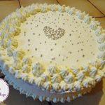 ტორტი თეთრი შოკოლადის კრემით