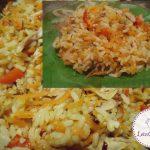 ქათმის ხორცი ბრინჯითა და სტაფილოთი