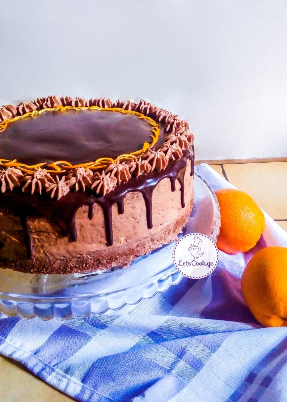 შოკოლადის ტორტი ფორთოხლით