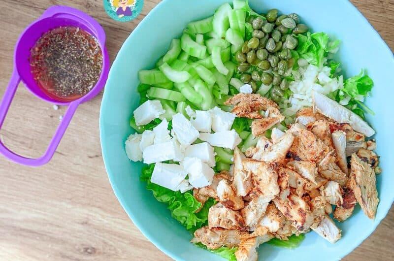 ქათმის მსუბუქი სალათი