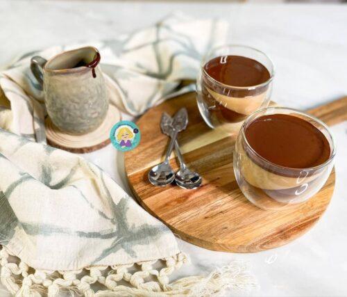 ყავის პანაკოტა შოკოლადის მუსით